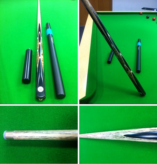 Handmade One Piece Snooker Cue In Ash And Multi-Spliced