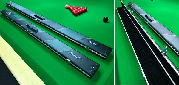 Peradon Halo Plus Extra Wide Cases For One Piece and 3/4 Snooker Cues and Extensions