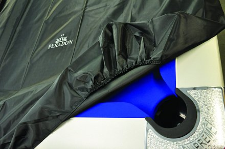 Peradon branded fitted cover suitable for 12ft snooker table