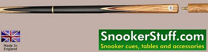 King Three Quarter Jointed Snooker Cue (Ref P1393)