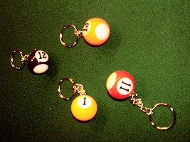 Pool Ball Keyrings