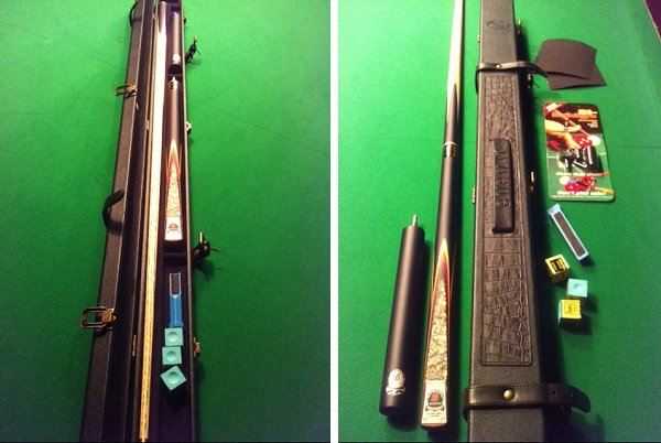Snooker World Championship Special - Riley Burwat 3/4 Snooker Cue, Case and Accessories (SP61)
