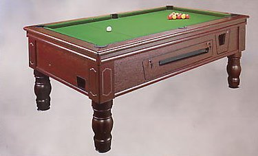 7' UK Coin Operated Pool Table