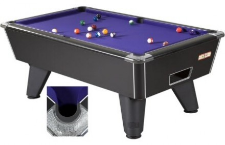 Winner Pool Table -Black Available In 6ft, 7ft And 8ft In Either Coin-operated Or Domestic (freeplay