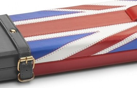 Genuine Leather Union Jack Design Snooker Cue Case For 3/4 Jointed Cue & Extension (S2696-GB)